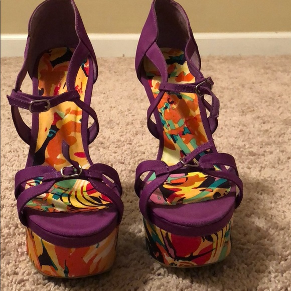 4d04242db Shi by JOURNEYS Shoes | Super Cute Colorful Wedges | Poshmark